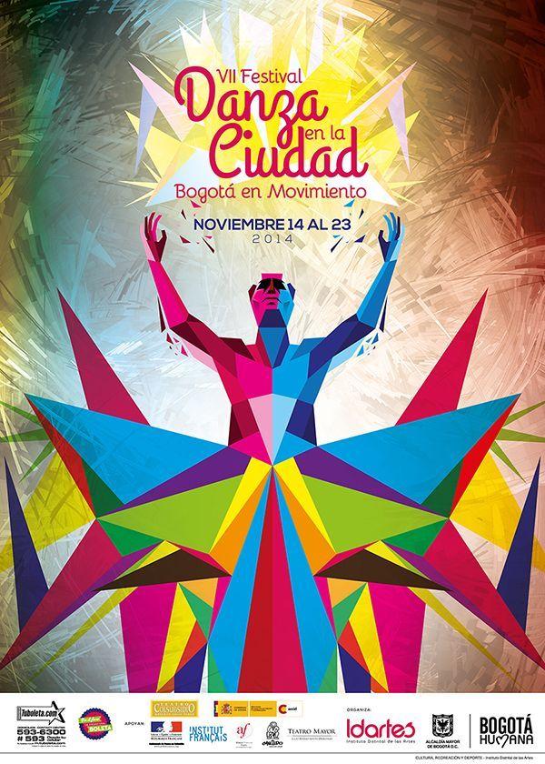 Afiche / Poster VII Festival Danza en la Ciudad Concepto, diseño, ilustración y desarrollo. Trabajo realizado para el Instituto Distrital de las Artes IDARTES. Bogotá, 2014. Trabajo en conjunto con Daniel Roa. #poster #typography #design #graphicdesign #ilustration