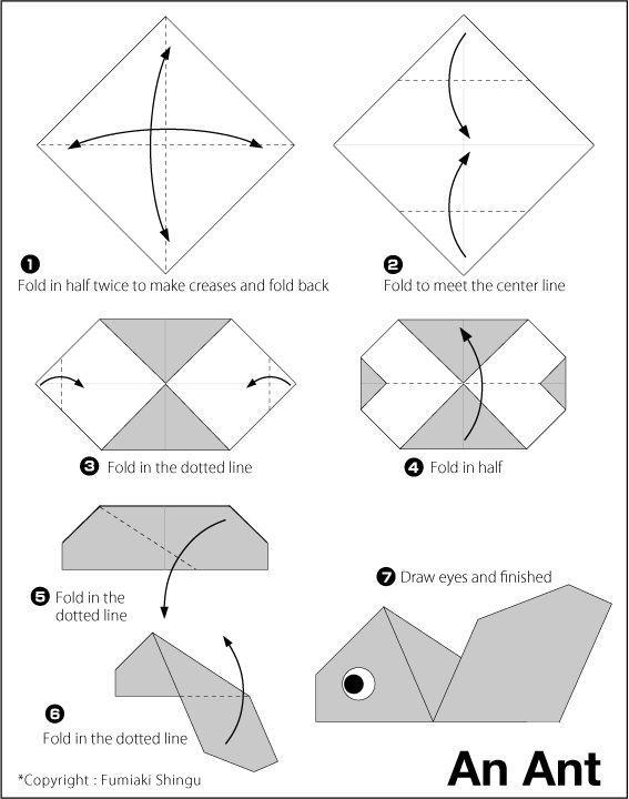 Easy Origami Instructions and Diagrams