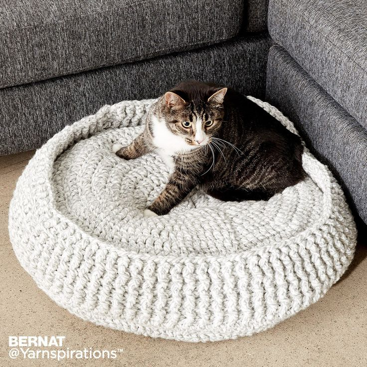 Crochet Pet Bed| Crochet | Charity | Let's Make a Difference | Free Pattern | Yarnspirations