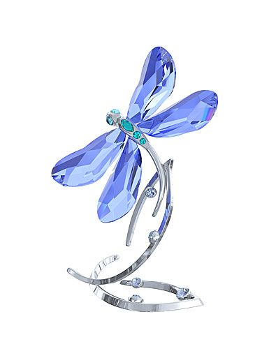 Swarovski: Blue Dragonfly. The theme of my book! I now collect blue dragonflies, and I wish I had this one! www.BlueDragonflies.net