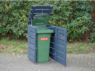 1er Mülltonnenbox Holz 120 Liter