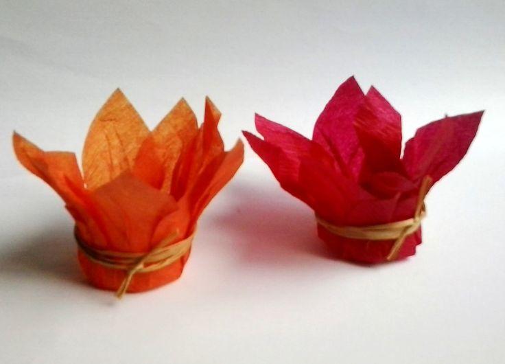 Forminhas para doces <br> Medida de 4 cm de fundo <br> Fio natural <br>Produzida de papel crepom