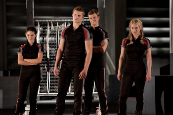 Clove, Cato, Marvel and Glimmer