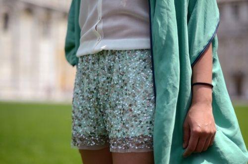 sequin shorts: In Style, Mint Green, Diy Fashion, Aqua Blue, Sequins Shorts, Saia Mini-Sequins, Cute Shorts, Summer Shorts, Sparkle Shorts