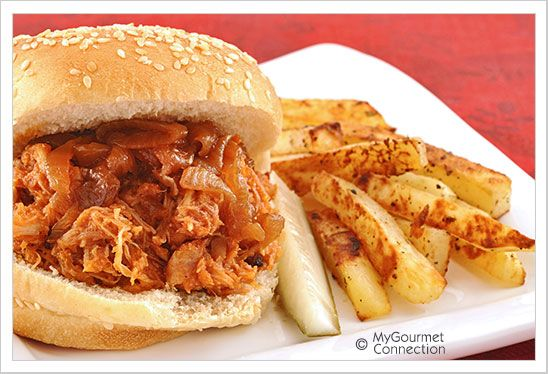 Barbecue Pulled Chicken Sandwiches | MyGourmetConnection