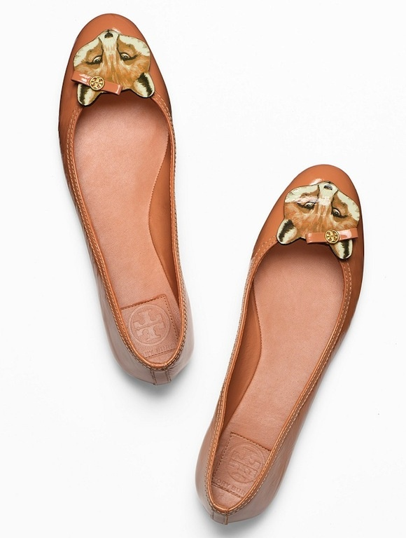 Tory Burch Leather Fox Ballet Flat--how to make?