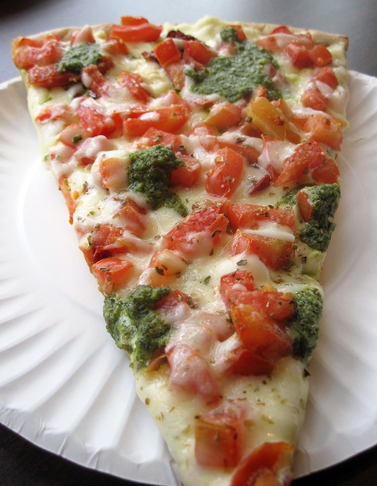 The Godfather from Celestino's New York Pizza – a ricotta base, fresh & sun-dried tomatoes, and pesto topping.
