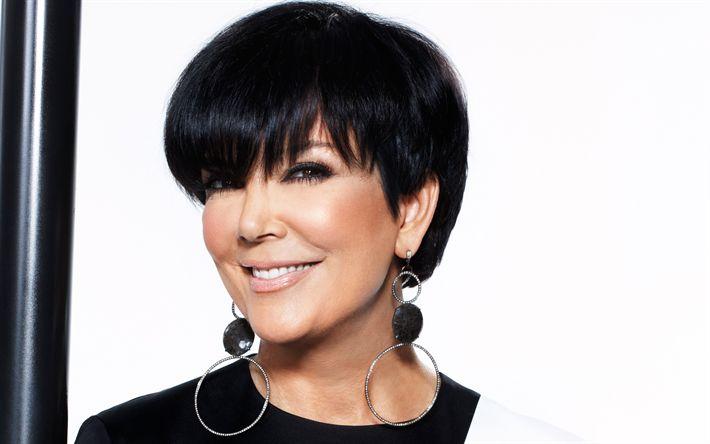 Descargar fondos de pantalla Kris Jenner, retrato, morena, hermosa mujer, de la Familia Kardashian