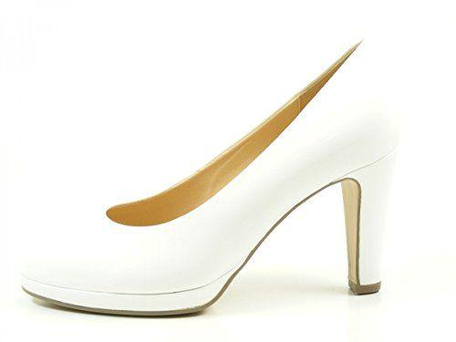 Gabor 41-270 Schuhe Damen Plateau Lack Pumps Weite F , Schuhgröße:35.5;Farbe:Weiß - http://on-line-kaufen.de/gabor/35-5-eu-gabor-splendid-damen-pumps