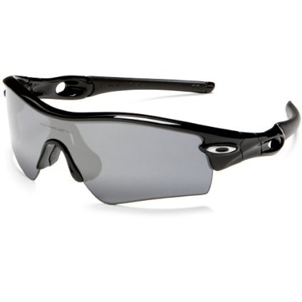 Oakley Men`s Radar Path Iridium Polarized Sunglasses,Polished Black Frame/Black Lens,one size $260.00