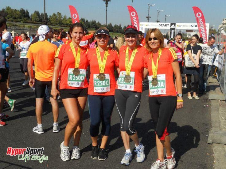 Stafeta feminina HyperSport la Maratonul International Bucuresti 2012