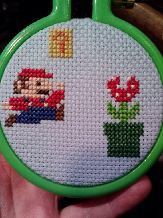 Nintendo Mario Cross Stitch Christmas by KimberlysKrossStitch, $24.00