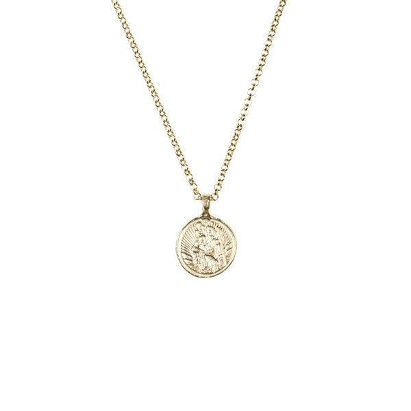This beautiful 9 carat gold St Christopher charm necklace is a new addition to the Daniella Draper collection. St Christopher being the patron saint of travel and strength you will never want to take it off.