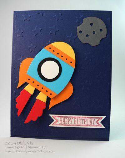 Rocket Ship Punch Art by Dawn Olchefske #dostamping #stampinup