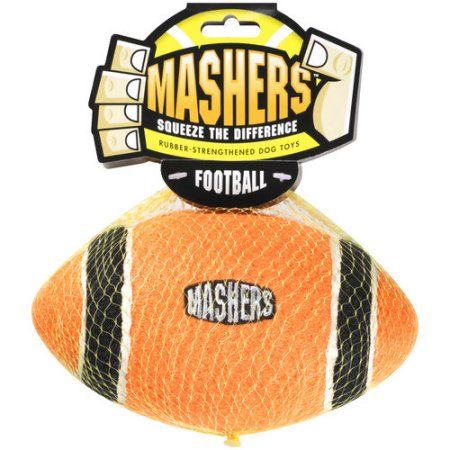 R2P Pet Ltd. Mashers Rubber-Strengthened Football Dog Toy