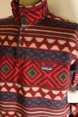 Excellent Vtg Mens Patagonia USA Indian Aztek Snap Fleece Jacket Pullover S | eBay