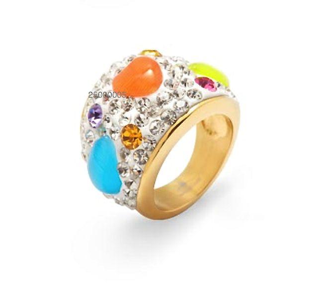 Si buscas un #anillo que no sea convencional, que resalte en tu mano y destaque por su colorido, este de #acero te va a encantar
