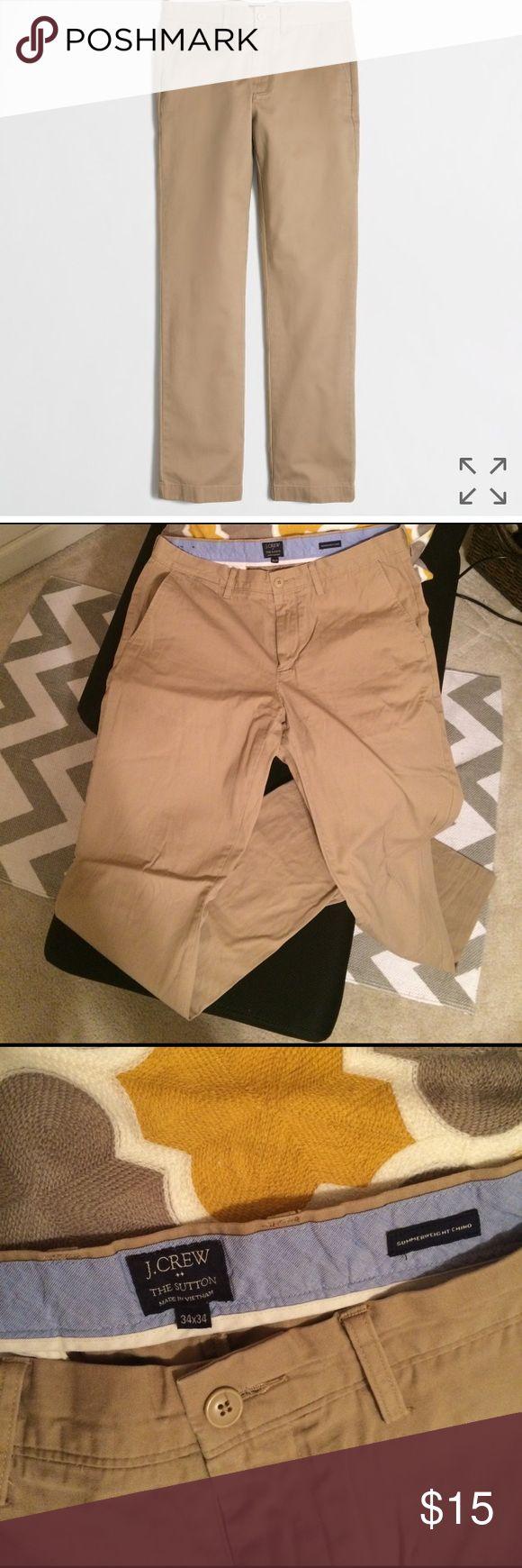 🌟flash sale!🌟JCrew The Sutton trouser British khaki beige pants. Slim fit. Zip fly. Barely worn. J. Crew Pants Chinos & Khakis