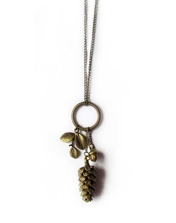 That Vintage My Woodland Pendant  Pinecone by thatvintage on Etsy, $30.00