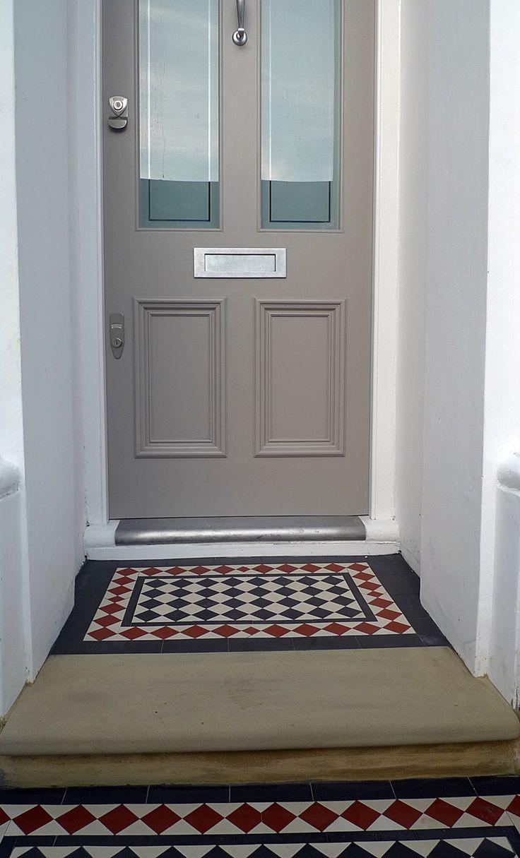 Yellow stock York stone privacy formal ornamental Victorian mosaic London Dulwich Peckham Wandsworth Clapham Balham