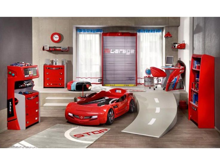for jake bedroom design amazing kids bed with racing cars models and other vehicles race car bed room set with pit stop design