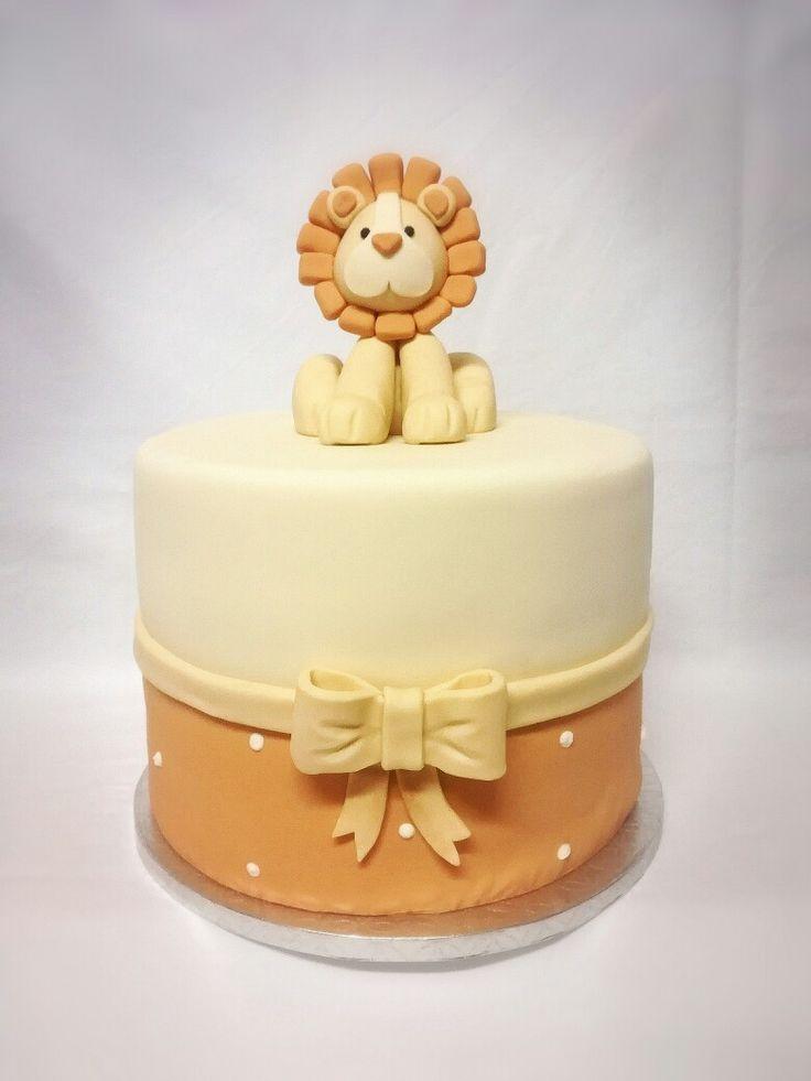 Lion baptism cake