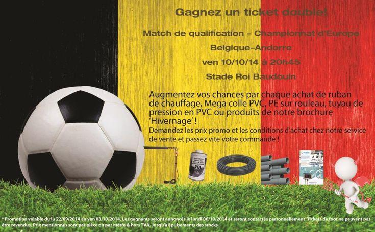 Gagnez des tickets pour le match de foot Belgique-l'Andorre avec Bosta !