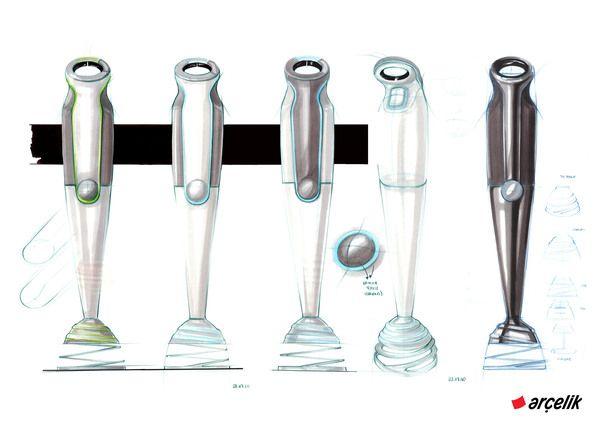 Hand Blender Design ~ Hand blender project begum tomruk sketching