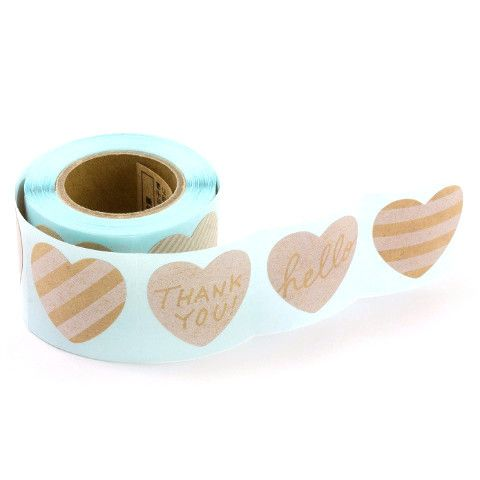 Roll of Stickers - Message Heart - 180 Pack from Bookbinders Online
