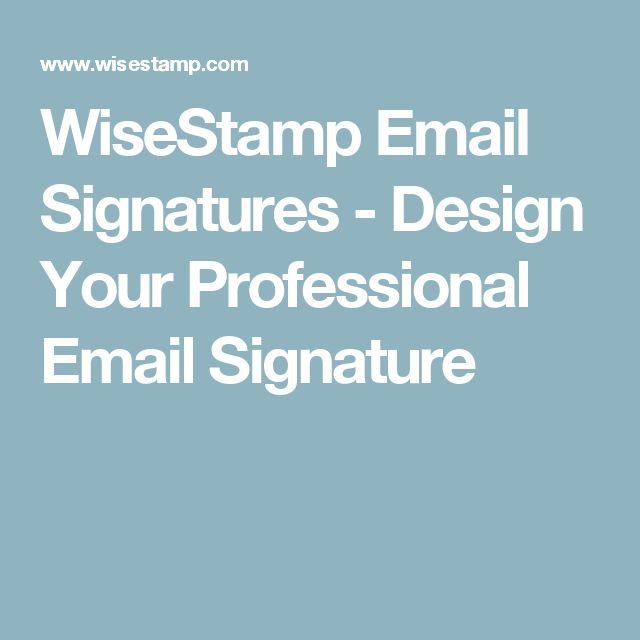 how to create a professional signature