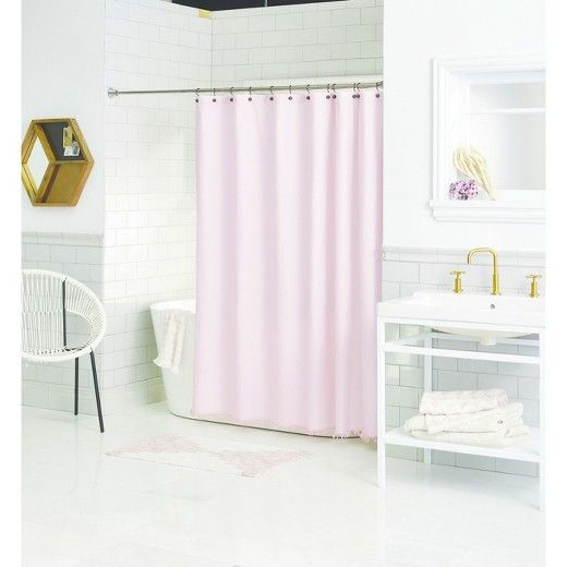 Create the perfect spa-like atmosphere in your space with the Pretty in Pink Bathroom Collection from Threshold™. This sweet cohesive set brings feminine vibes and soft styles with a shower curtain, rug, towels and wall decor. Bring your ideal style in with these pieces, or mix and match other favorite pieces to create a style that's perfectly you.