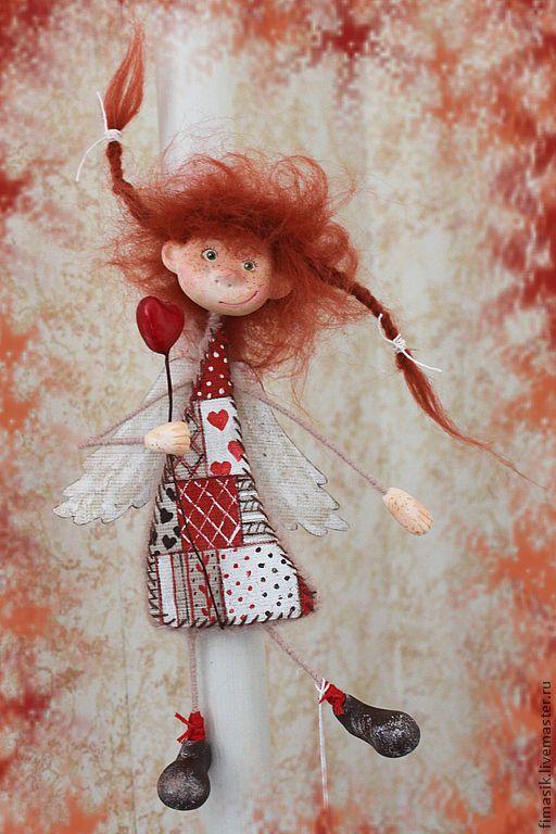 Купить Полюша - оранжевое настроение, феечка, домовушка, ангелочек, душевные вещи, душевный подарок, настроение