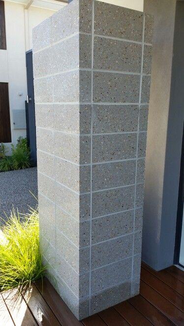 Carlisle Canterbury feature brick pillar National Masonary 'Polished Pearl Grey Blockwork' 390mm x 190mm x 90mm feature blocks