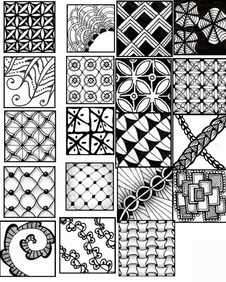 Obsessed image with zentangle patterns printable