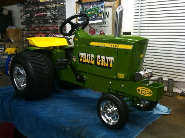 Custom Lawn Tractor Wheels : Pulling pedal tractor custom child creations pinterest