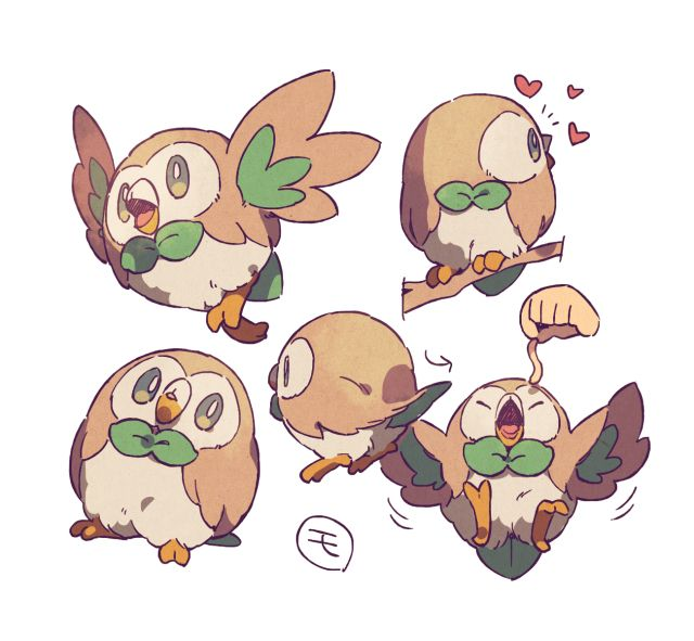 pokemon and and moon - Rowlet