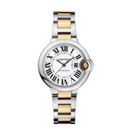 Reloj Ballon Bleu de Cartier - 33 mm Oro amarillo - Acero Oro amarillo y Acero - Fine relojes para mujer - Cartier