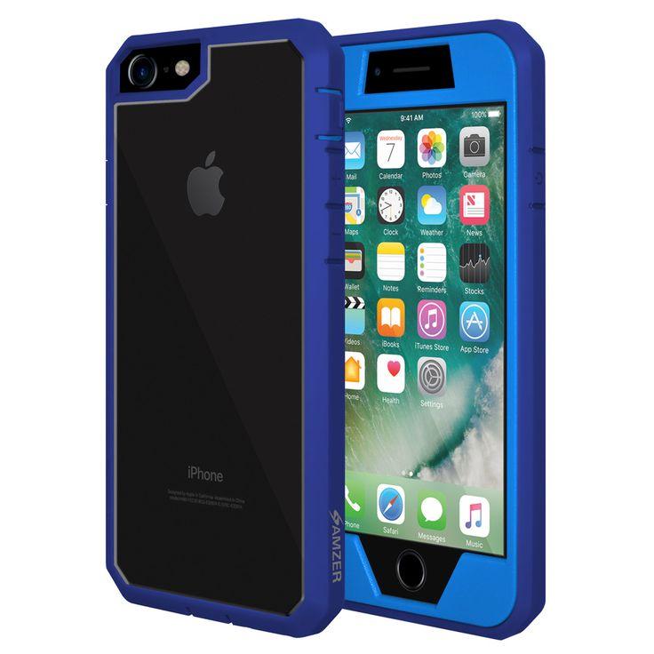 Kryt na iPhone 7 - Amzer Full Body Hybrid Case AMZ200279 modrý