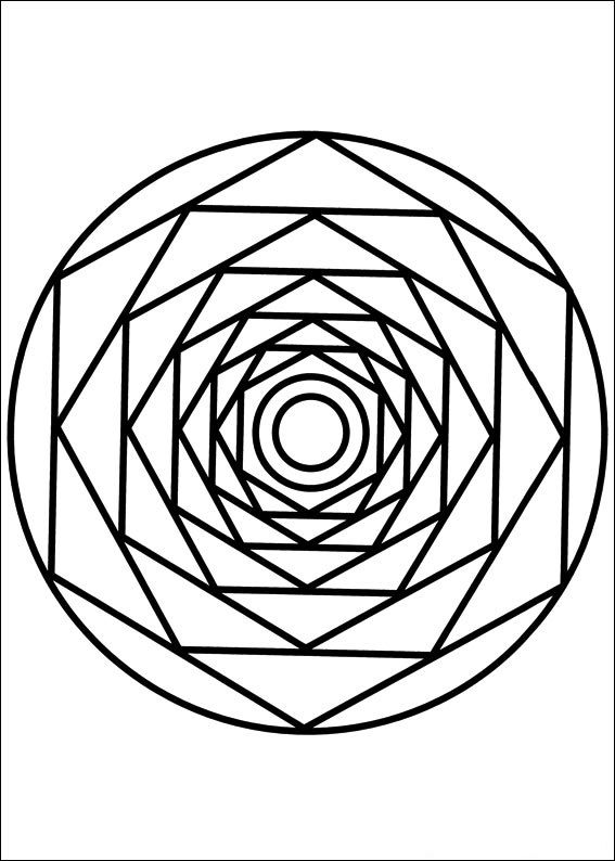 Mandala 086 Coloring Page For Kids And Adults From Other Pages Painting