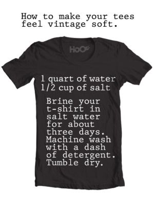 How to: Make a New T-Shirt Feel Vintage Soft by kelly.l.manning.31