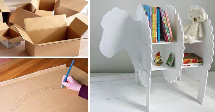 Pomocou tohto návodu vyrobíte deťom roztomilú poličku v tvare ovečky. Postačí vám k tomu kartón! Polička v tvare ovečky do detskej izby. Nápad, návod, deti