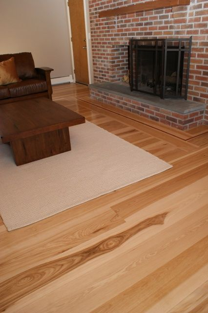 Hickory hardwood floor wide plank hickory wide plank for Mill direct hardwood flooring