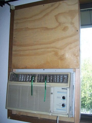Picture of Mounting a Standard Air Conditioner in a Sliding Window (From the Inside, Without a Bracket)