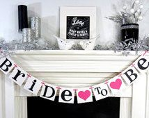 bride to be garland - happy time banners