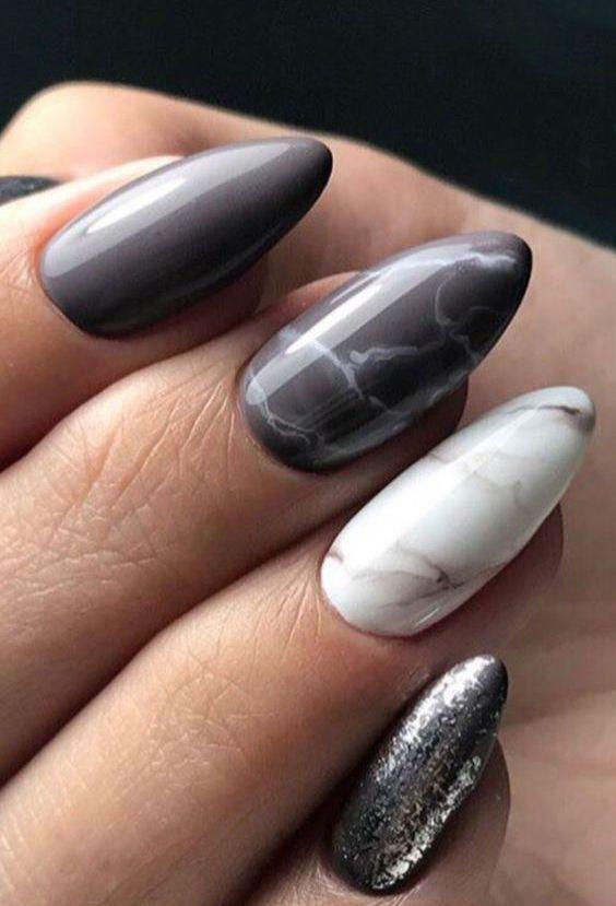10+ Mandelmarmornagelentwürfe; Marmornägel; Mandelnägel; Nägel … – Nails