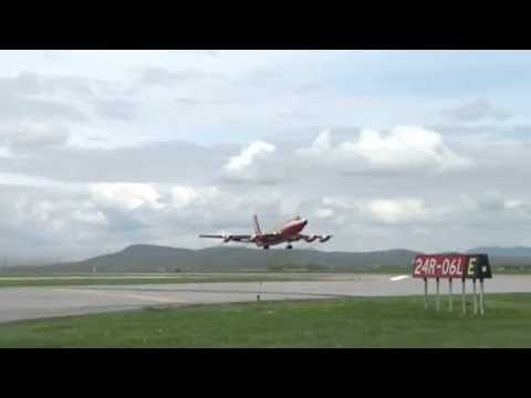 "#video P Boeing 720B ""Red"" Flying Test Bed last flight"