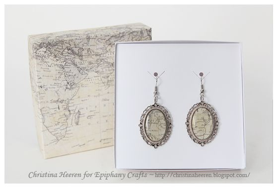 capture. create. inspire.: Map Earrings with Epiphany Crafts Oval Tool
