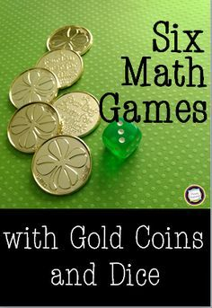 Are you ready for some new primary math games for St. Patrick's Day? Here's a set you'll love - just add dice and gold coins and you're ready to go! The post includes a free set of printable directions cards for independent work in math centers.