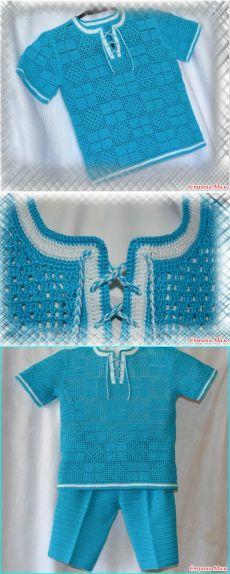 Летний костюм для Данилки (крючком) - Вязание - Страна Мам