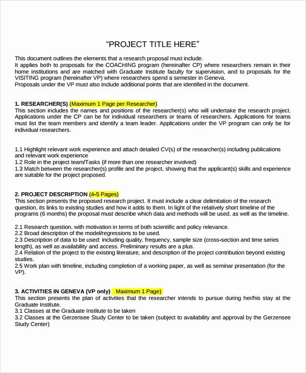 Research Project Proposal Template Best Of Sample Research Project Template 7 Free Docu Project Proposal Template Proposal Templates Business Proposal Template